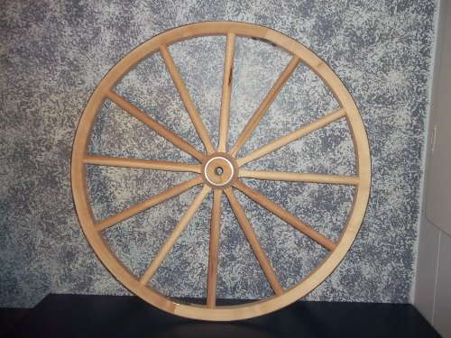 Steam Bent Hickory Wooden Western Wagon Wheel 38