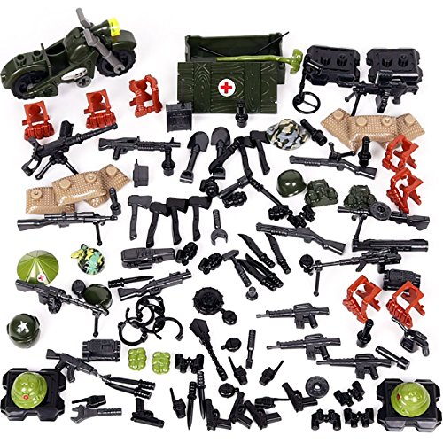 (Kolobok Toys War Set US Army Men Vietnam Conflict Weapons Pack Guns and Accessories for United States Infantry Soldier Minifigures Building Blocks Military Toys 108 pcs Compatible with Major Brands)