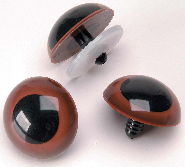 Animal Craft Eyes 24mm Brown Eye 25pairs