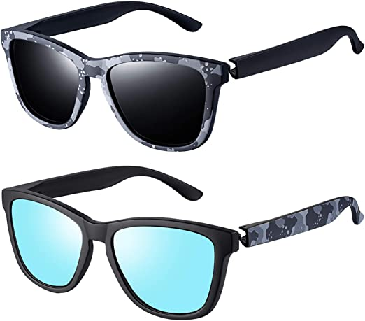 Mens Ladies Sunglasses Shades Bright Lenses Polarised Matte Gloss Classic Retro