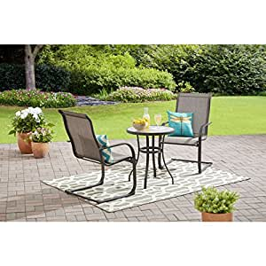 Amazon Com Mainstays Bristol Springs 3 Piece Bistro Set