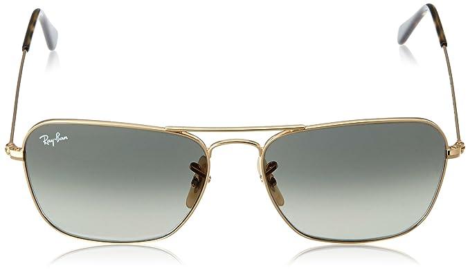 c880ea879a Amazon.com  Ray-Ban CARAVAN - GOLD Frame DARK GREEN Lenses 58mm  Non-Polarized  Ray-Ban  Clothing