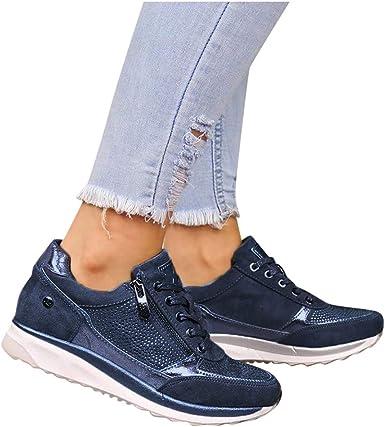 Women Platform Wedge Sneakers Memory