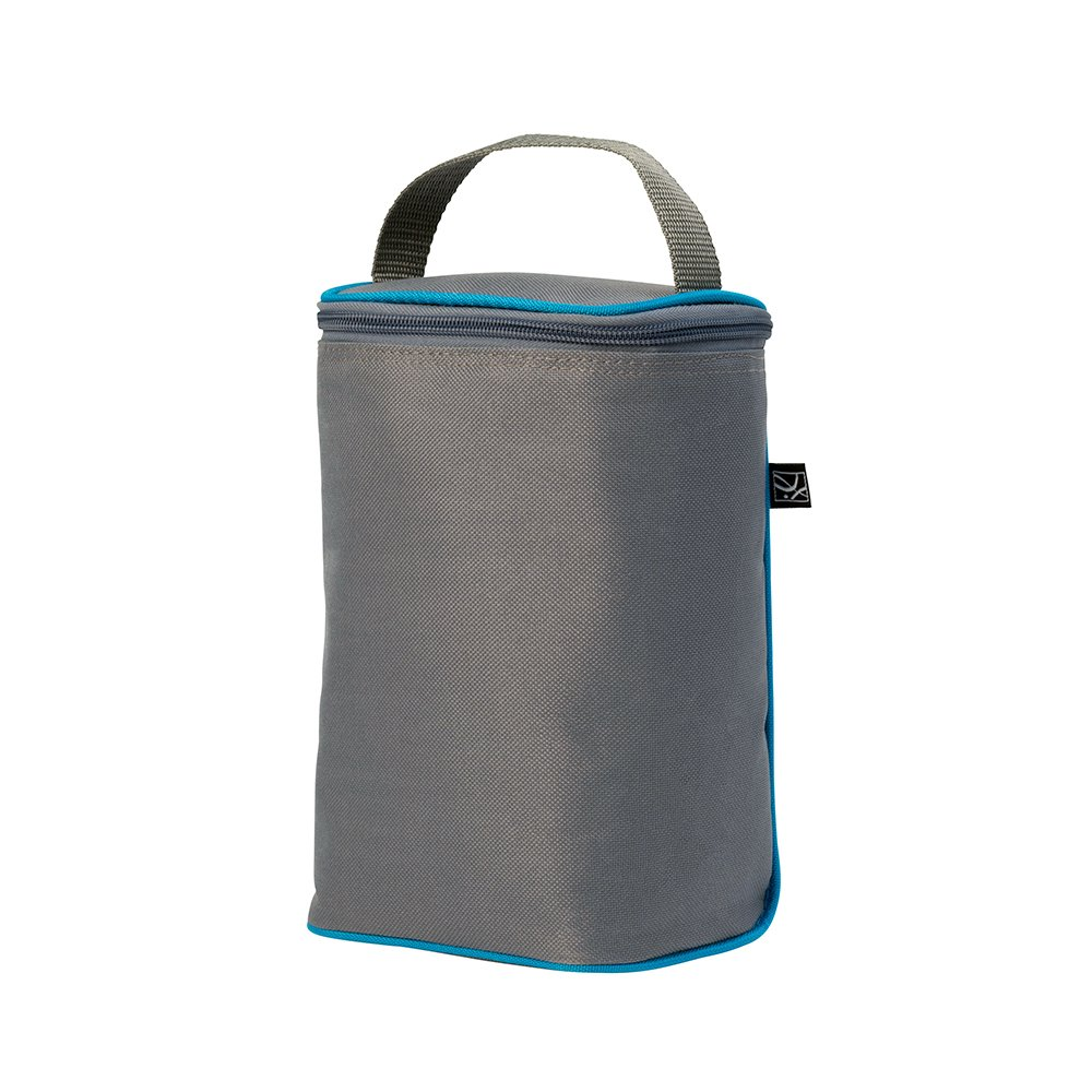 J.L. Childress TwoCOOL Double Bottle Cooler, Grey/Teal 0407GT