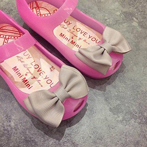 Igemy 1 Paar Niedlich Kleinkind Baby Kinder leuchtende Gelee Sandalen beleuchtete Soft-Soled Prinzessin Schuhe Rosa