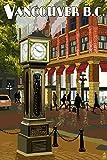 Vancouver, BC - Steam Clock (9x12 Art Print, Wall Decor Travel Poster)