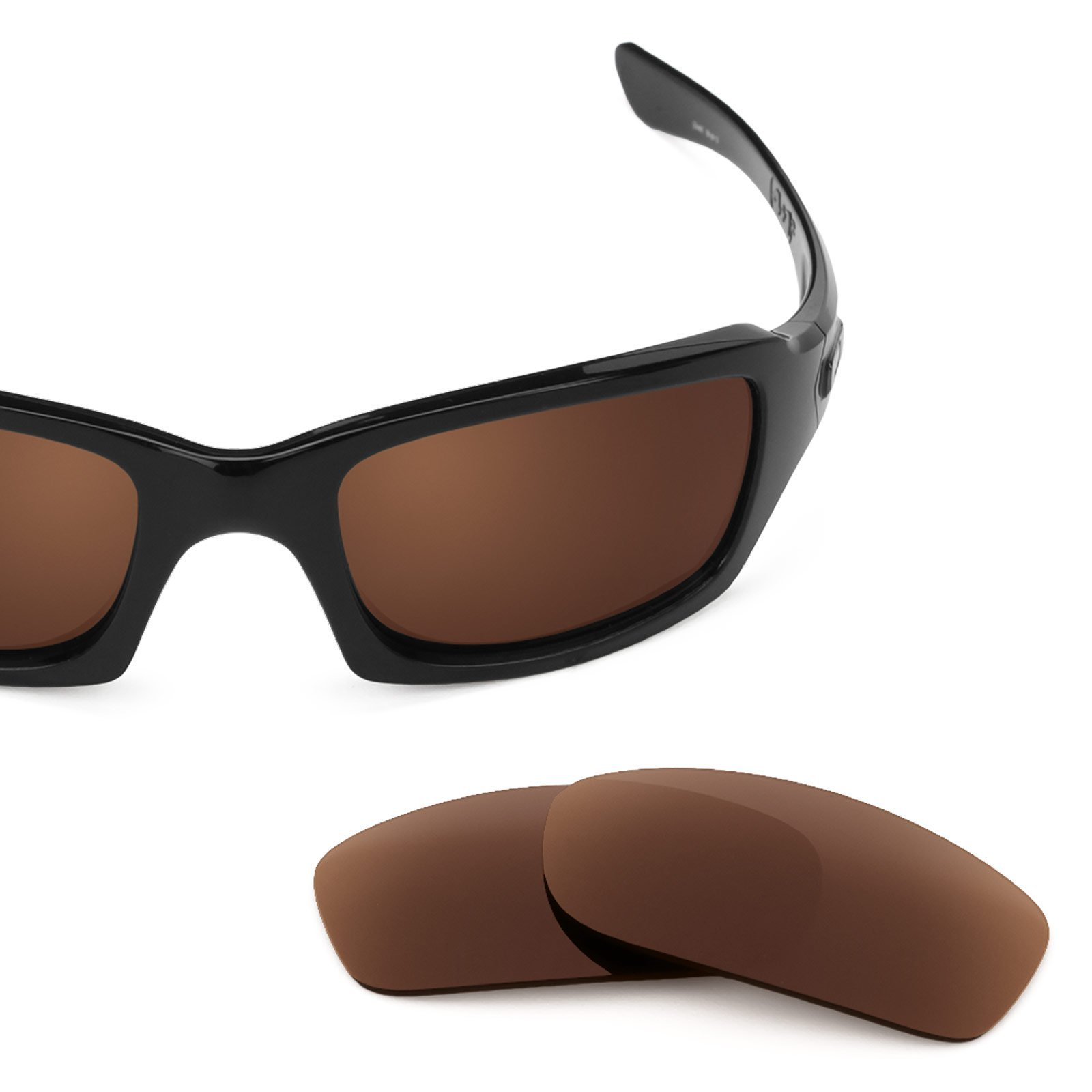 Revant Replacement Lenses for Oakley Fives Squared Dark Brown