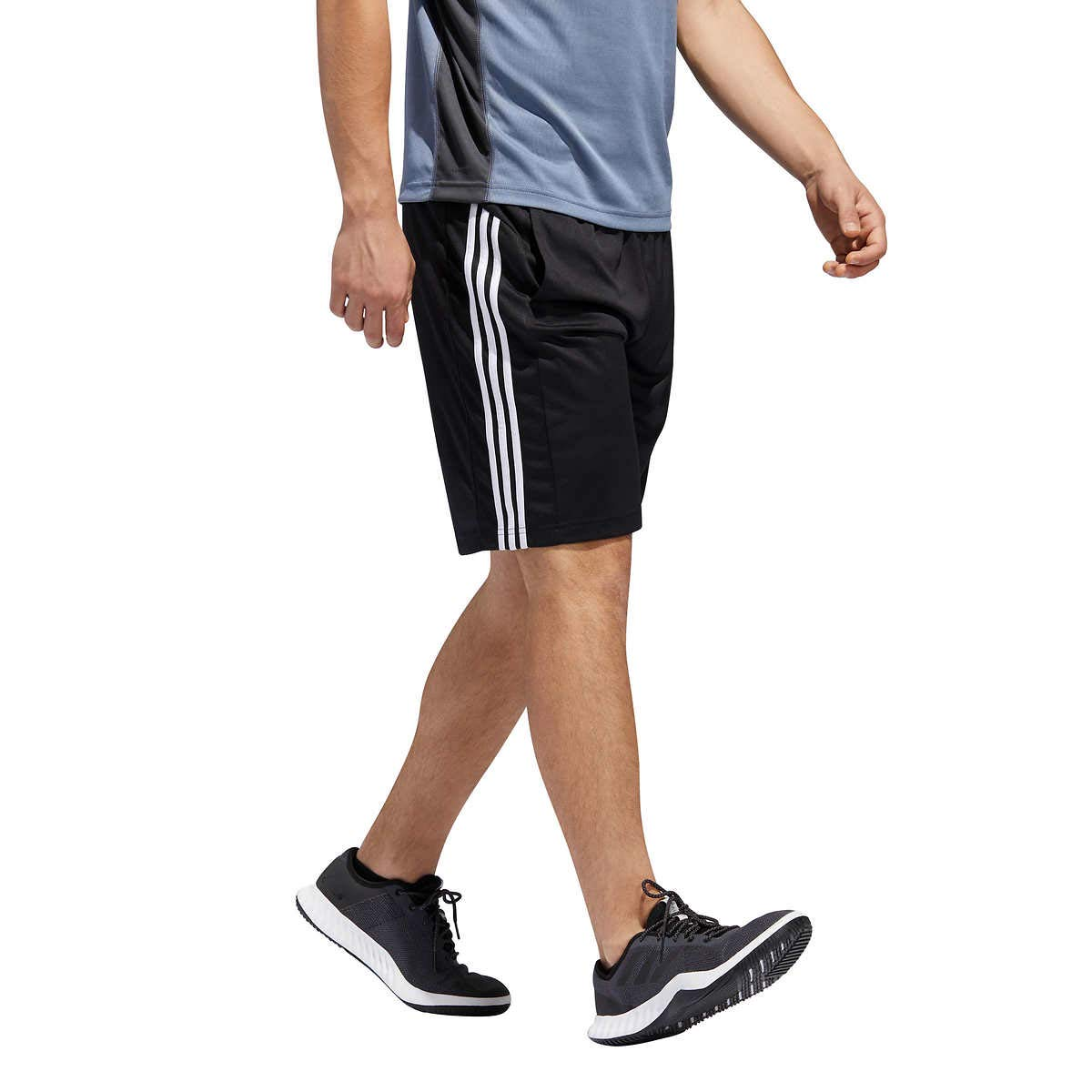 Black White XLarge Adidas Men's Active Zip Pocket Shorts