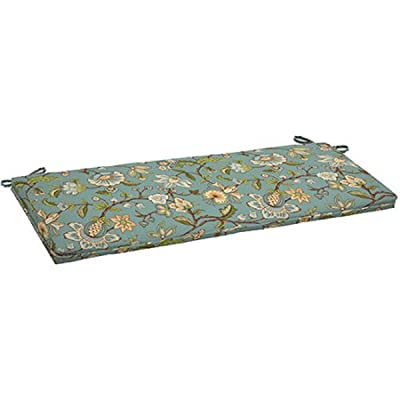 """Comfort Classics Inc. Outdoor Bench Cushion with Single Welt 46"""" x 17"""" x 2.75"""" in Polyester Fabric Blue Jacobean : Garden & Outdoor"""