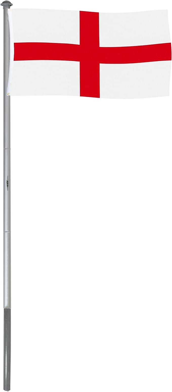 BRUBAKER Mástil Aluminio Exterior 6 m Incluye Bandera de Inglaterra 150 x 90 cm y Soporte de Tierra: Amazon.es: Jardín
