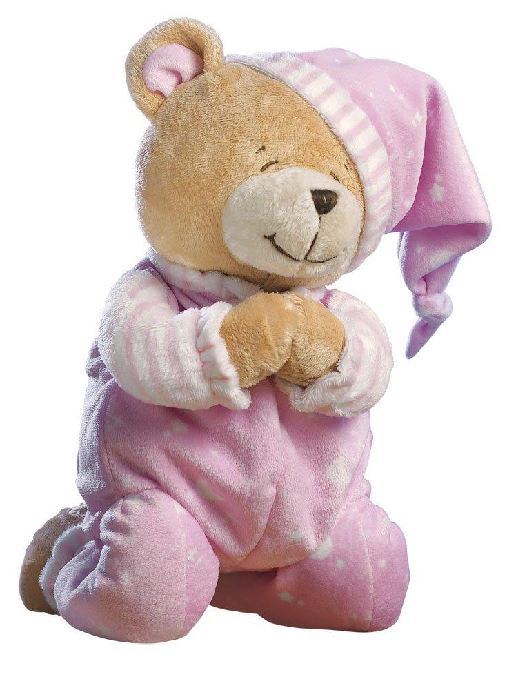 Amazon Com Praying Teddy Bear Stuffed Animal Pink Baby