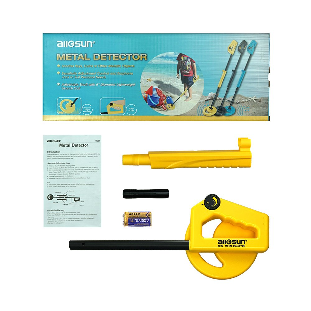 all-sun Handheld Metal Detector for Junior Kids Education Exploration Toy Color Yellow by all-sun (Image #1)