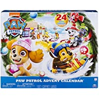 Paw Patrol Advent Calendar with 24 Collectible Plastic...