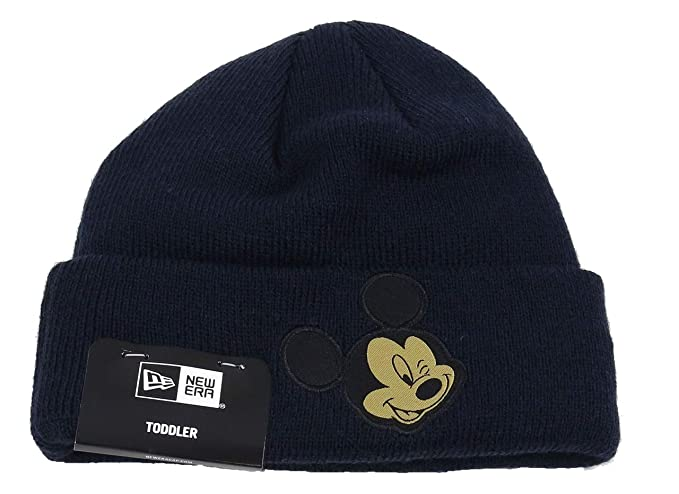 Amazon.com  New Era Mickey Mouse Character Knit Navy Gold Child ... 9105e81d243