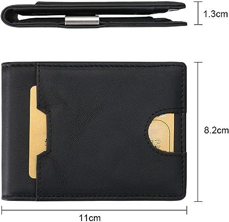 flintronic/® Porte Cartes de Cr/édit RFID NFC Blocage avec Poche /à Monnaie avec Bouton Couvert pour Femmes Violet Bifold Portefeuille Cuir V/éritable