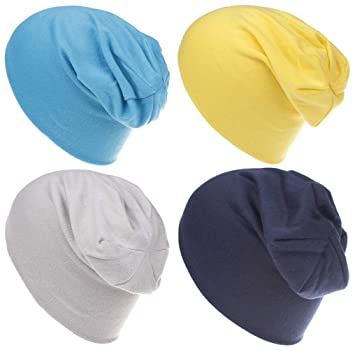 4 Pack Boy Qandsweet Baby Boys Hat Kids Cool Knit Beanie Hats Toddlers Caps