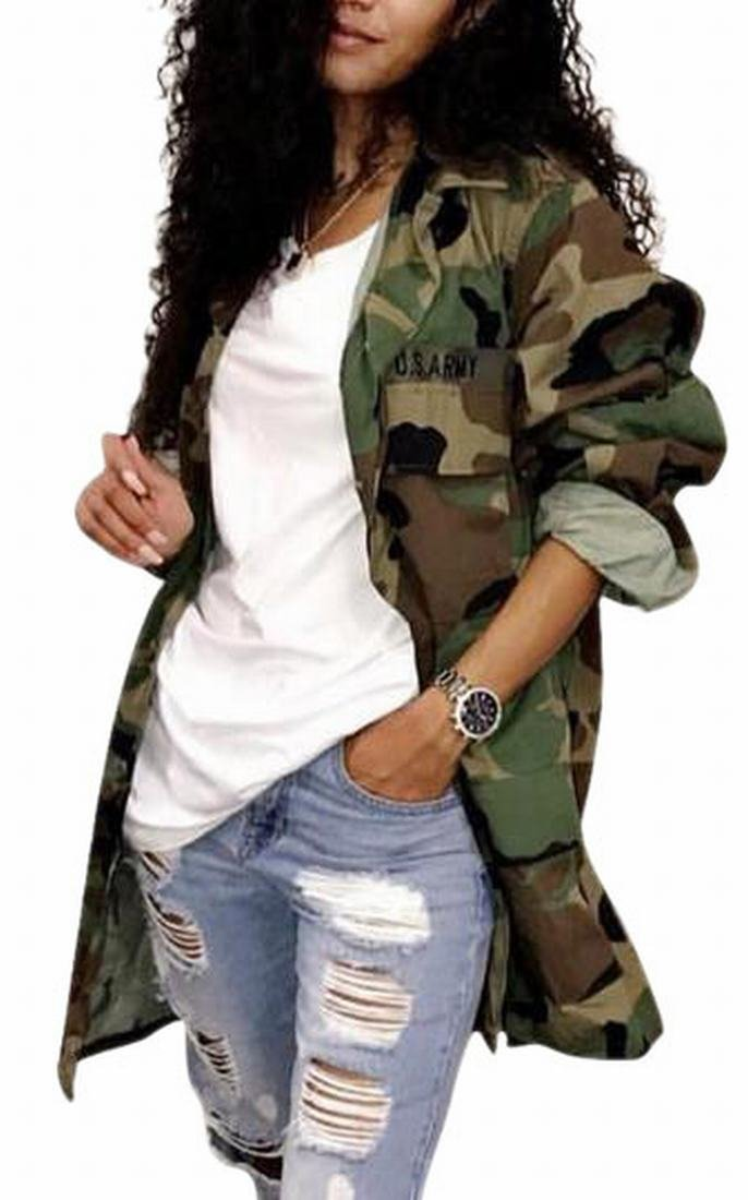CBTLVSN Women's Lightweight Military Casual Camouflage Shirt Jacket 1 XS by CBTLVSN