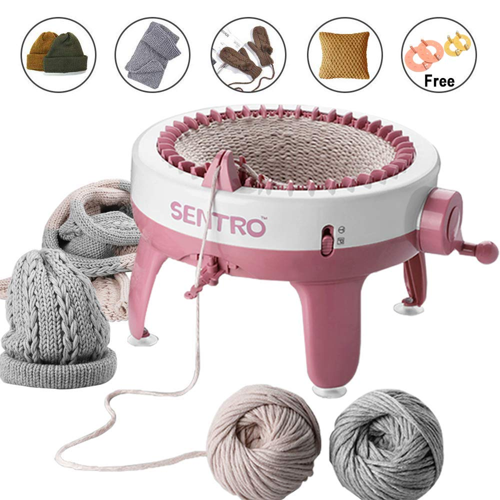 Knitting Machine, Smart Weaving Loom Knitting Round Loom, Knitting Board Rotating Double Knit Loom Machine, 40 Needles Knitting Loom Machines Weaving Loom Kit for Adults and Kids by Jamit