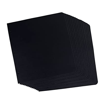 Amazon Sicohome Scrapbook Refill Pages 15 Sheets Black 10x10
