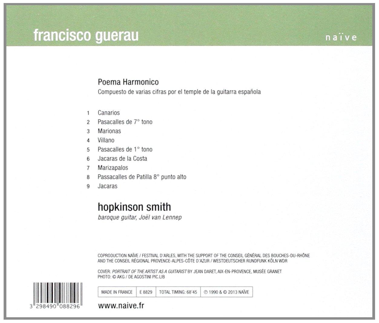 Guerau - Poema Harmonico: Hopkinson Smith: Hopkinson Smith ...