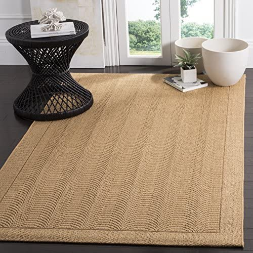 Safavieh Palm Beach Collection PAB322M Maize Sisal Jute Area Rug 8' x 11'
