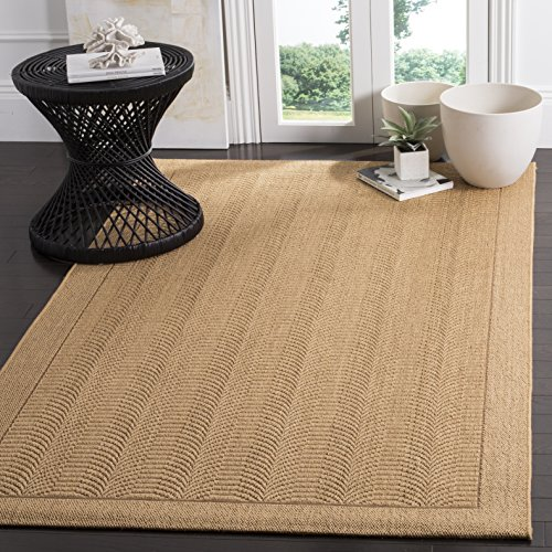 Safavieh Palm Beach Collection PAB322M Maize Sisal & Jute Area Rug (8' x ()