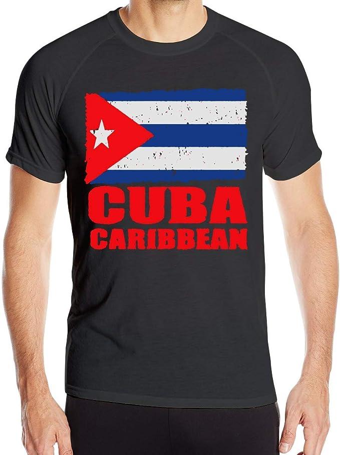 Bandera de Cuba Cubana Bandera Camisetas de Manga Corta para Hombre Tops de Ciclismo de Secado rápido: Amazon.es: Ropa y accesorios