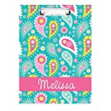 monogrammed clip board - Bright Paisley Monogrammed Double Sided Hardboard Clipboard