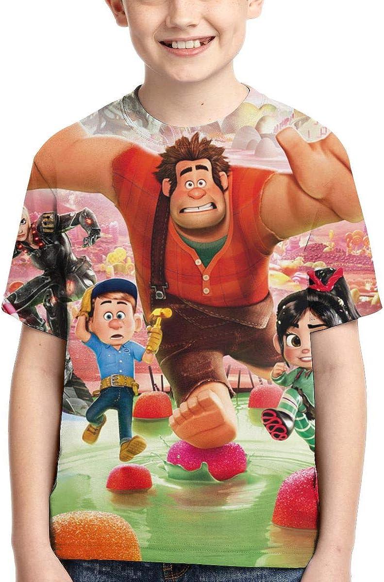 LLSKAKLVVA Wreck It Ralph 3D Full Printed Boy T-Shirt Black