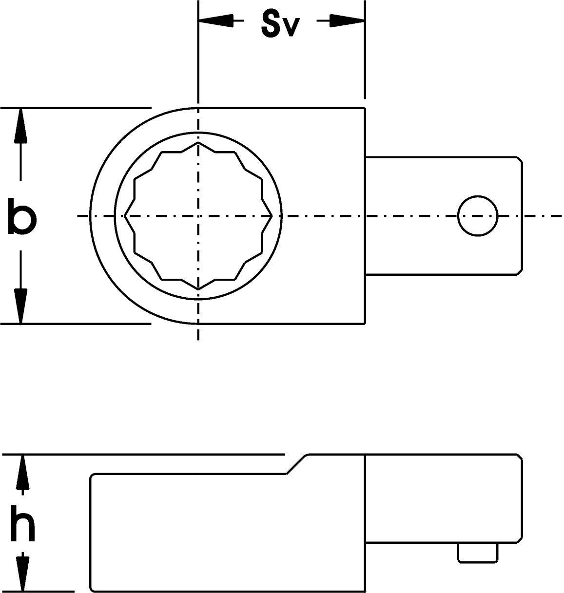 Elora 2066000320000 Ring Spanner Insert Tool 14x18mm 2066-32mm