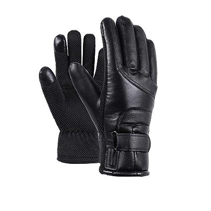 Donna Guanti in pelle per touchscreen con fodera in pile Dimensioni semplicemente 6,5-8,5