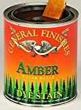 General Finishes Water Based Dye Stain Amber Quart