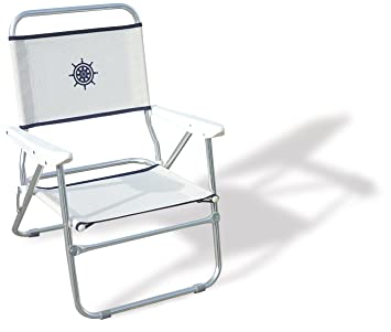 FORMA MARINE Beach Chair, Outdoor Chair, Folding, Anodized, Aluminium, White  ,
