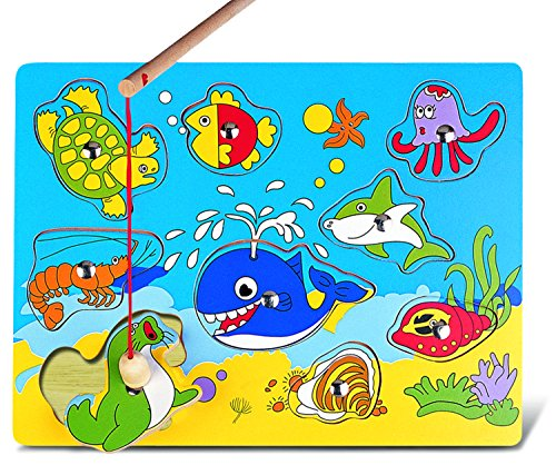 Puzzled Magnetic Fishing Ocean Life Wooden Toys