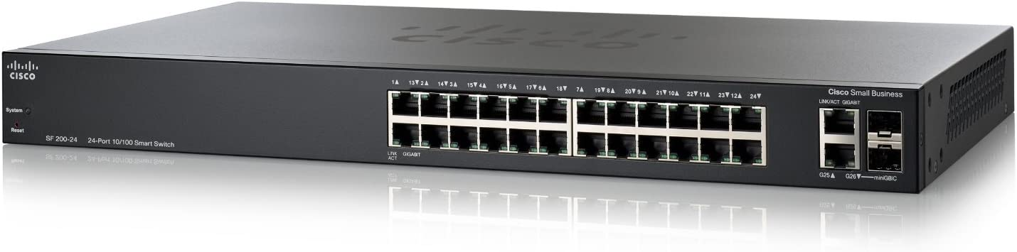Cisco SLM224GT SF200-24 24-Port 10//100 Smart Switch