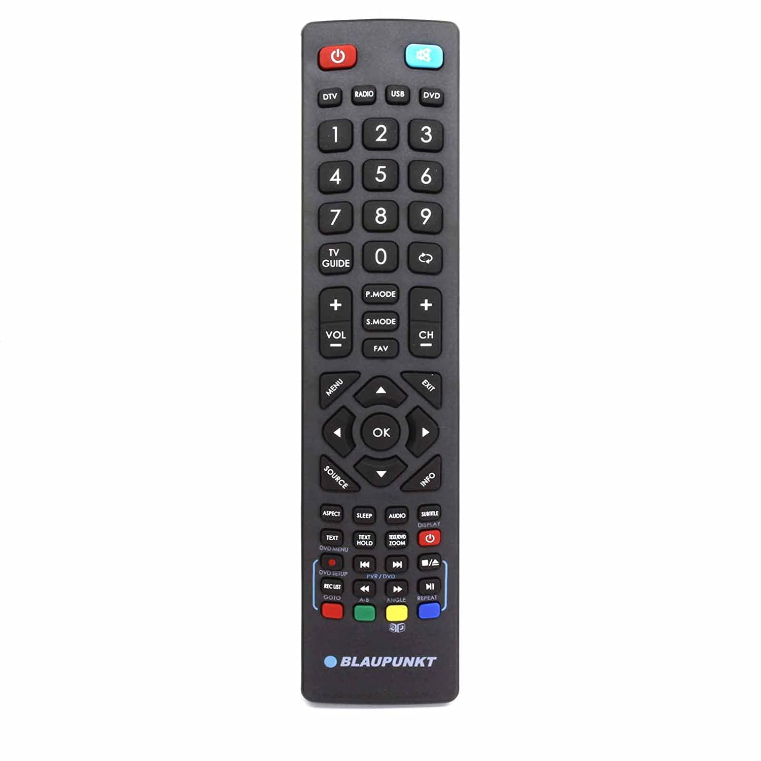 Universal Remote Control for Blaupunkt LCD LED 3D HD Freeview TV - With Two  121AV AAA Batteries Included