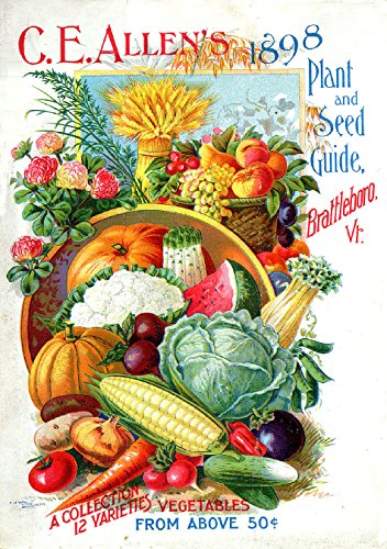 Early Rare Reproduction Art or Artwork of Vintage and Antique Collection of Garden Catalogs and Magazines Front Cover Art From Companies for Growing Vegetables or Veggies Flowers or Flowers Fruits -