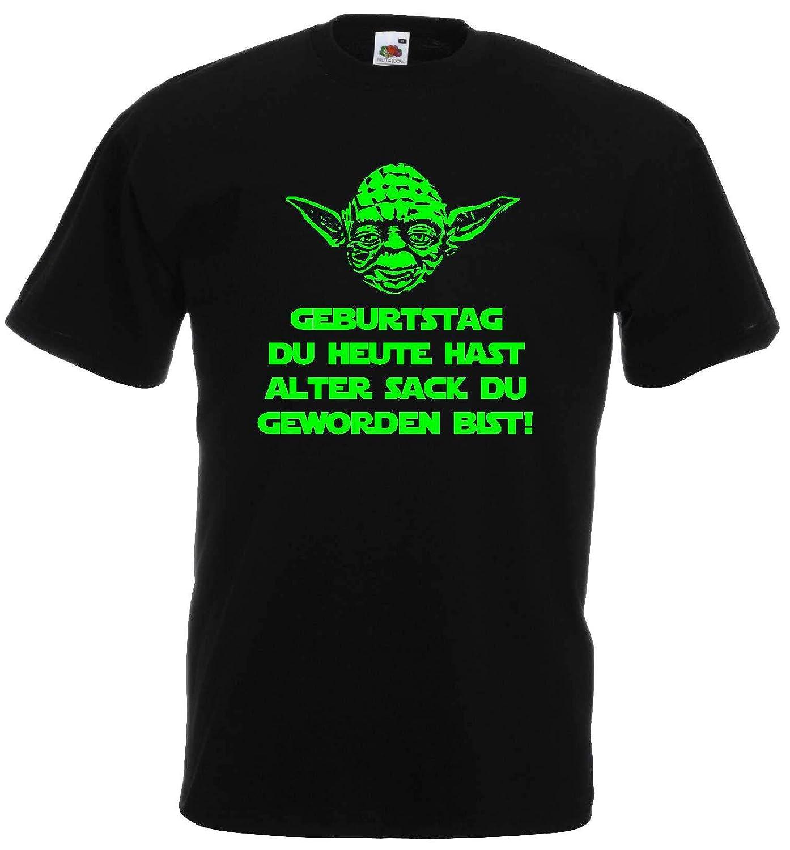 Master Yoda Herren T Shirt Spruch Geburtstag Du Heute Hast Alter