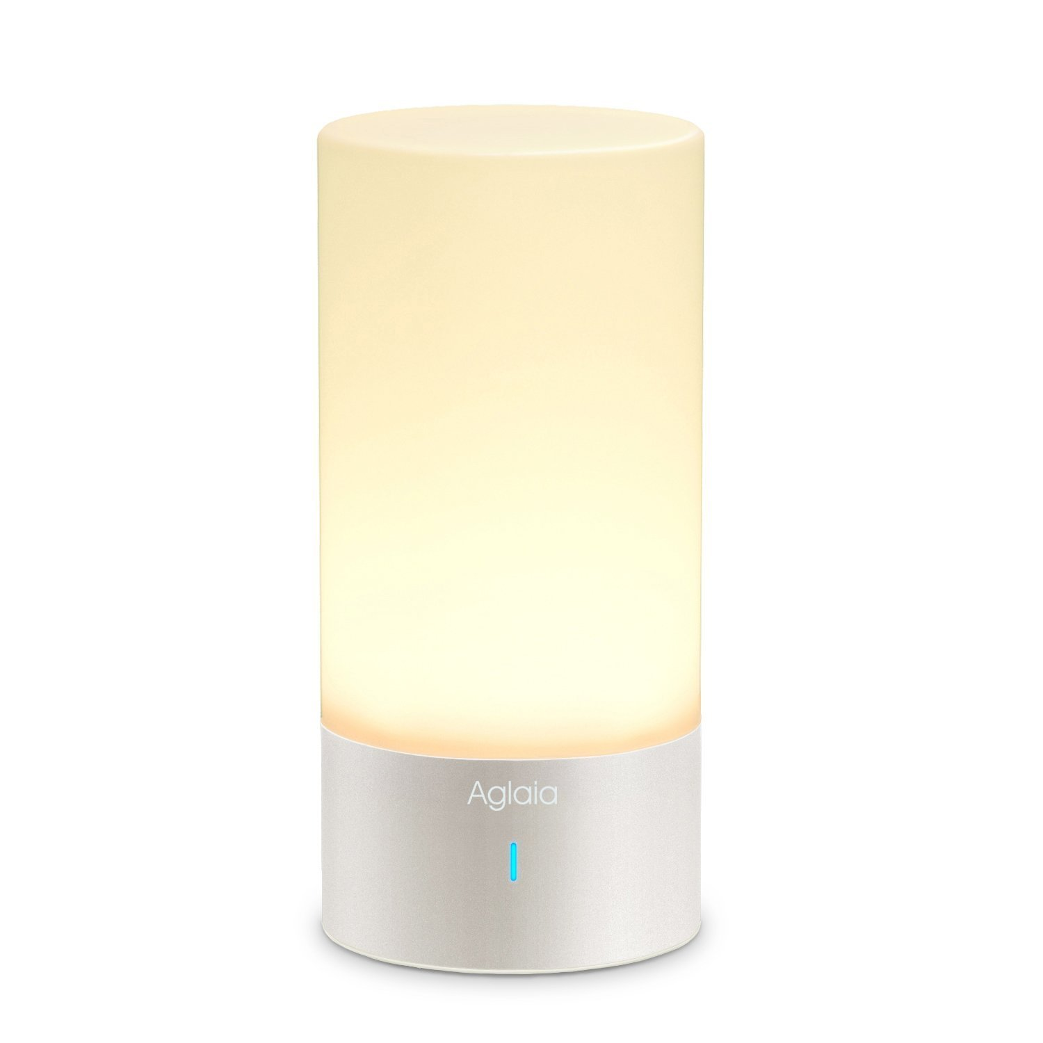 Bedside Lamp,Touch Sensor Table Lamp Aglaia Dimmable Mood Lamp with Warm White and 256 Color Changing RGB for Bedrooms