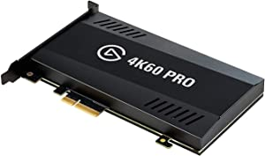 Elgato Game Capture 4K60 Pro - 4K 60fps capture card with ultra-low latency technology for recording PS4 Pro and Xbox One X gameplay, PCIe x4, Black