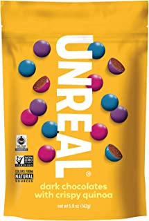 product image for Unreal, Candy Coated Chocolate Crispy Quinoa Gems Bag, 5 Ounce