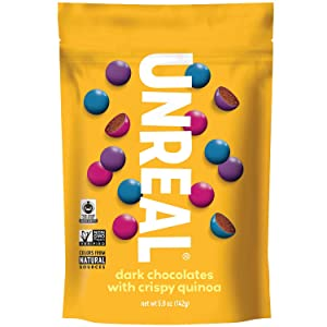 Unreal, Candy Coated Chocolate Crispy Quinoa Gems Bag, 5 Ounce
