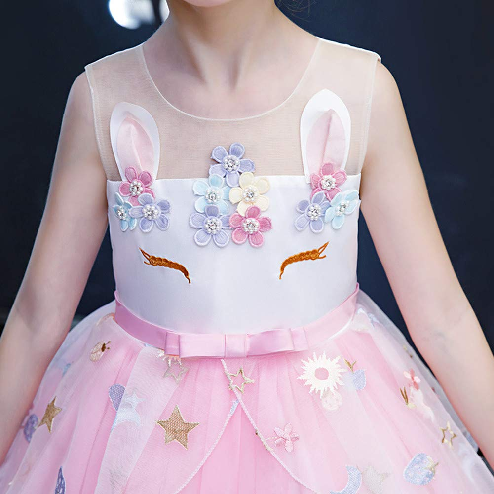 5-6 Anni Ragazza Vestito da Unicorno tut/ù Costume da Principessa per Bambina 116 cm