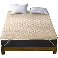 洗える ベッドパッド 快適敷きパッド 綿100% 丸洗いOK 抗菌・防臭・防ダニ加工 パッド 裏地がズレ防止素材使用 オールシーズンで使える ベッドシーツ ベッドマット ホテル仕様