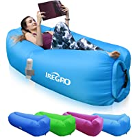 IREGRO aufblasbares Sofa New Version tragbarer Sitzsack wasserdichtes Aufblasbare Couch air Lounger Outdoor Sofa für Camping
