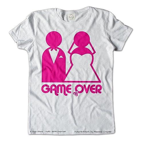 Maglietta Matrimonio Game Over Sposi Addio al Nubilato Sposa | Gigio Store