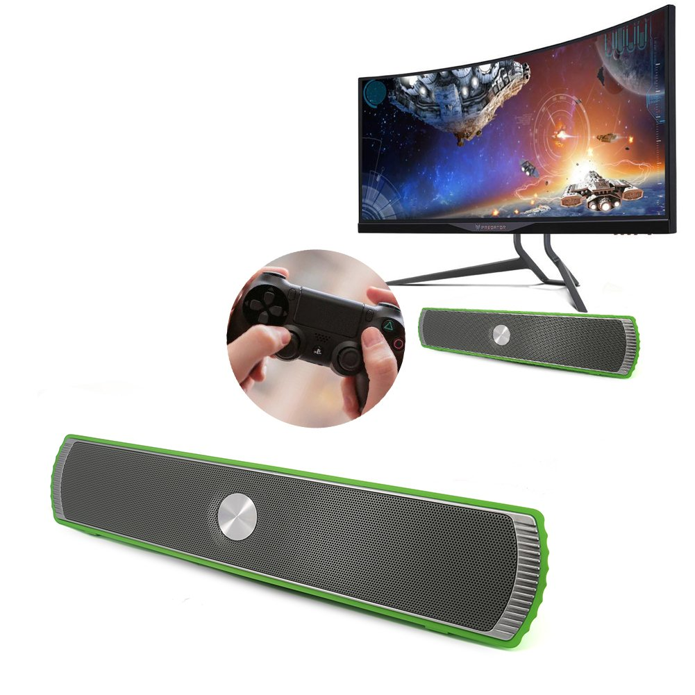 SCS ETC Wireless Bluetooth Speaker, 2 x3w Dual Drivers with Crystal, Clear and Huge Stereo Sound for PC, Laptop, Mobile, iPhone, iPad, Samsung etc (Green)