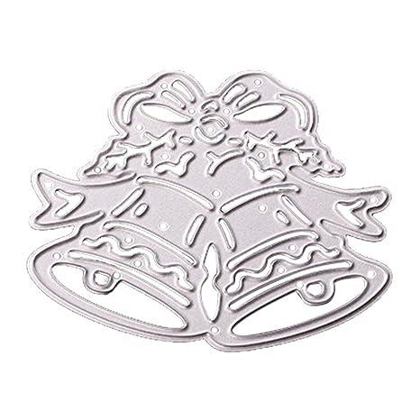 1Pieza troqueles de corte de metal navidad jingle bell DIY Die Cut Stencil