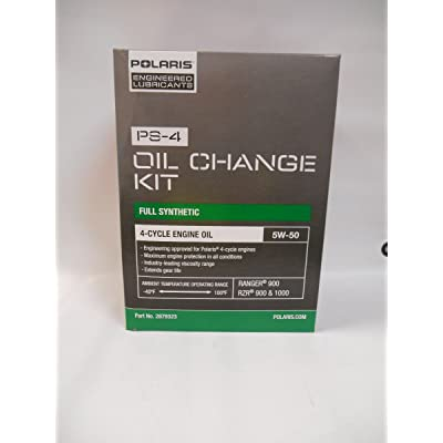 Polaris 2013 Ranger RZR 900 XP Oil Change Kit PS-4 Oil: Automotive