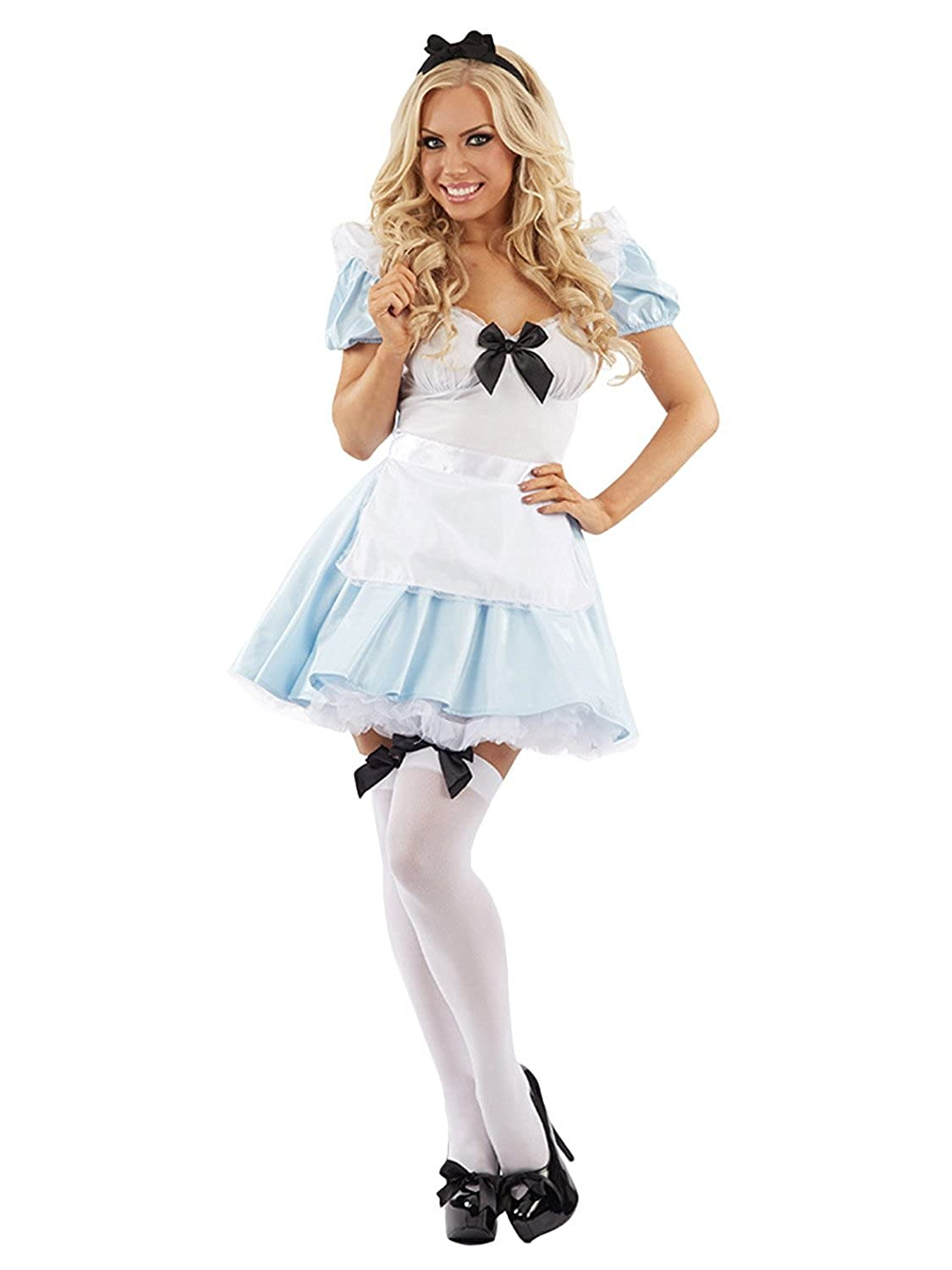 Halloween Costumes Scary Women.Amazon Com Mixlot New Women Sexy Adult Maid Alice In